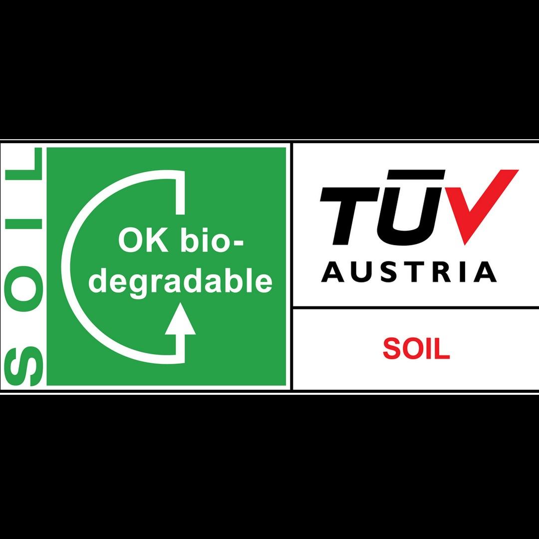 logo ok biodegradable soil